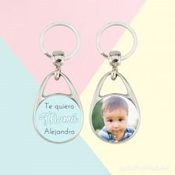 Ejemplo llavero Redondo Niño Día de la Madre