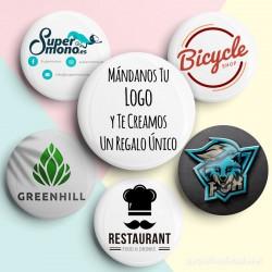 Espejos personalizados ejemplos con logo