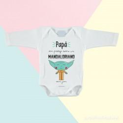 Body Papá Mandaloriano de Mangas Largas