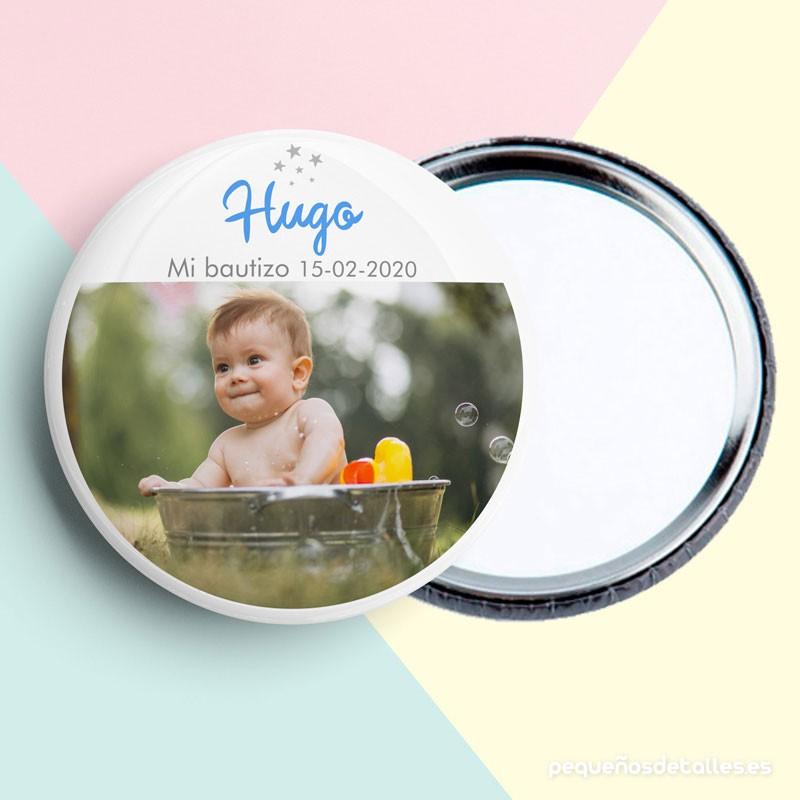 Espejo bautizo personalizado
