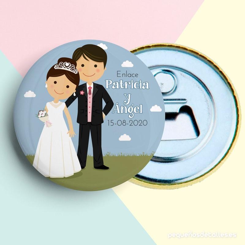 Abrebotellas boda novios