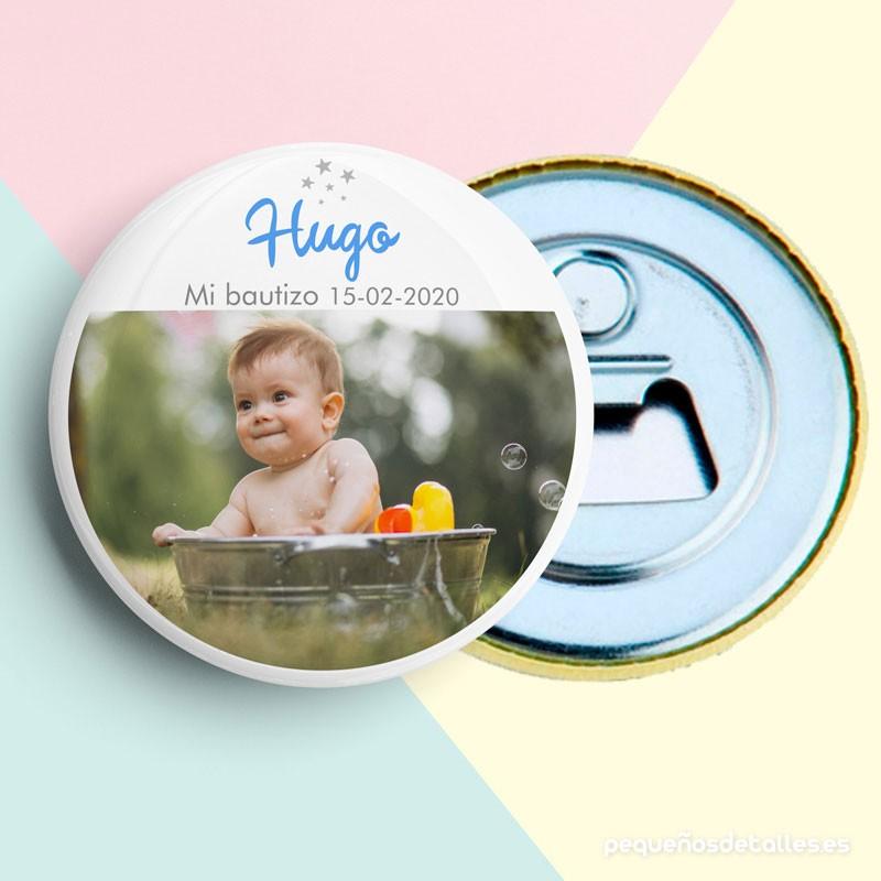 Abrebotellas con imán Personalizado para Bautizo con Foto Niño