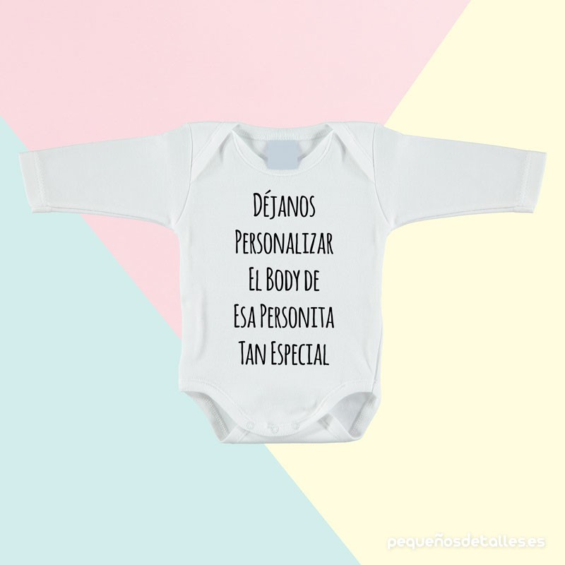 Body bebé personalizado mangas largas