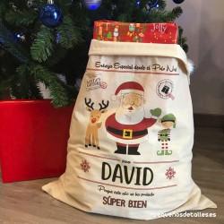 Saco Papá Noel Personalizado