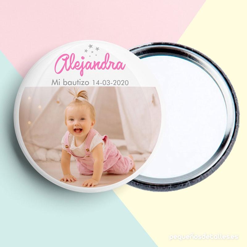 Espejo Personalizado para Bautizo Niña